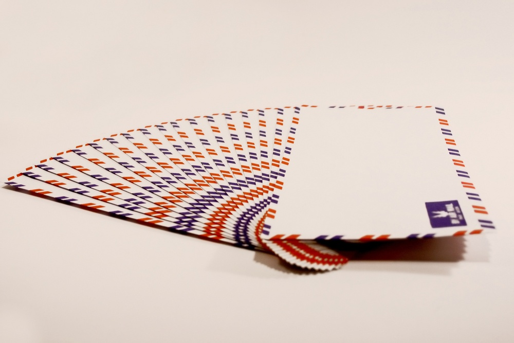 Envelopes via air mail